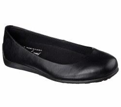 Skechers Flattery Transpire Black Womens Work Shoes Slip Resistent 76554/BLK. 06.5