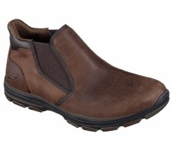 Skechers Garton Keven Chocolate Mens Slip On Boot Shoe 64996/BRN. 07.0