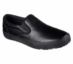 Skechers Gibson Alcade Slip Resistent Work Shoes For Men 77105/BLK