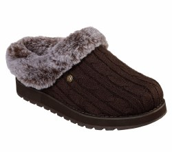 Stay cozy with Skechers BOBS Keepsakes Ice Storm Shoes ,Soft Sweaterr Knit Fabric upper on a casual comfort clog with faux fur lining07.5