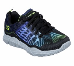 skechers intersectors , lightweight flexible durable youth running shoes shock absorbing midsole  011.