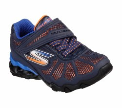 Innovative style and comfort for the boy on the go with the SKECHERS Lil Hydro-Static shoe. Synthetic grid and mesh fabric in a stretch laced slip on athletic training sneaker with stitching and overlay accents. 05.0