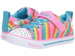 Skechers twinkle Toes Sneaker sure to bring a smile to her face . lights up her every step. 07.0