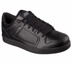 Skechers Ossun Black Slip Resistent Mens Work Shoe 77058/BLK . 08.5
