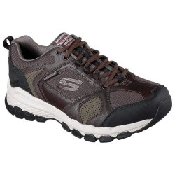 Skechers Outland 2.0 Brown Black Casual Trail Runner Crosstrainer Walking Shoes 65567 08.0