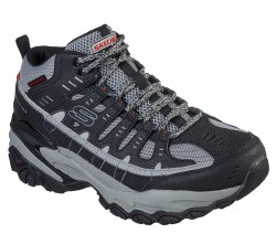 Skechers Pelrain Durable upper water repelant design with breathable comfort secure lace up closure , air cooled memory foam 08.0