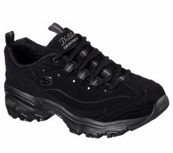 Skechers play on womens walking shoe wide Black Smooth sporty trubuck leather upper 11949W/BBK06.