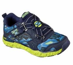 Skechers Portal X Navy Lime Kids Running Shoes 97502L/NVLM 011.