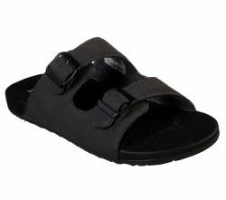 Skechers two strap slide sandal , birkenstock style , memory foam cushioned comfort footbed 08.0
