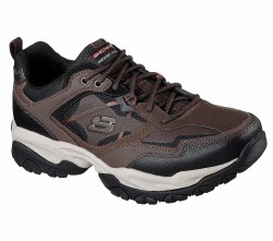Skechers Sparta 2.0 Brown and black. classic trainer updated for comfort. durable and rugged . allterrain flexible sole. 08.