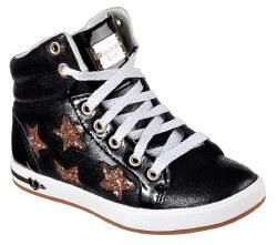 Skechers Starry Shine Black/Gold Hi Top Kids Skechers 84320L/BKGD 011.0