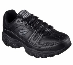 Skechers Afterburn Strike On Black Crosstraining Shoes Size 1515.0