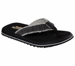 Fun in the sun comes with total comfort in the SKECHERS Relaxed Fit®:Tantric - Salman sandal. Soft canvas upper in a classic thong sandal style with stitching and logo detail, fabric toe post. 07.0