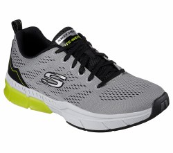 Skechers Trontom Light Grey Black Mens Training Shoes 52637/LGBK 08.5