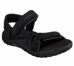 Go on more adventures in sporty style and comfort wearing Skechers relaxed fit Reggae-Tulo Sandal. Woven diamond -patterned nylon webbing fabric upper. memory foam Skechers Tulo Black 65524