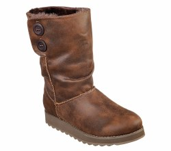 Skechers Womens Fur Boots soft micro fiber slip on casual mid calf boot scotch gaurd water resistant 4493306.0