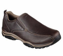 Skechers Mens Slip On Dress Casual  Relaxed Fit Smooth Leather uppers  08.0