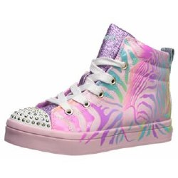 Skechers Twinkle Toes Pink Multi Light up High tops 012.