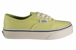 VANS Authentic shadow lime/true white Little Kids Skate Shoes 011.0