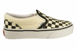 Vans Slip Ons Black/White Checkerboards Toddlers Classic Vans stylling  slip ons for kids02.5