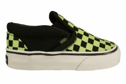 VANS Classic Slip-On (glow checkerboard) black Toddler's Skate Shoes 05.5