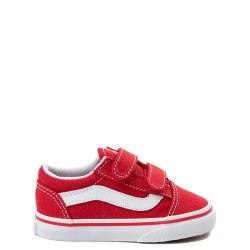 Vans Toddler Old Skool V Red. Timeless Skate Style 05.0