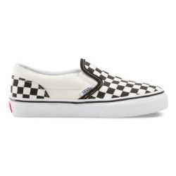 Vans Iconic Slip On Black True White Checkerboard Youth Sizes Classics Surf Cool Vans 010.5