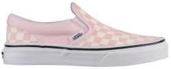 Vans Iconic Slip Ons Chalk Pink White Checkerboards Youth Sizes Classic cool with Vans011.