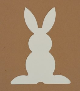 BUNNY SHAPE WHITE CARD 15PK