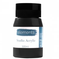 ACRYLIC 500ML ELEMENT BLACK