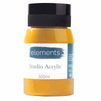 ACRYLIC 500ML ELEMENT M.YELLOW