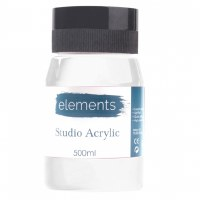 ACRYLIC 500ML ELEMENT T.WHITE