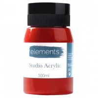 ACRYLIC 500ML ELEMENTS CRIMSON