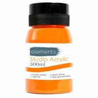 ACRYLIC 500ML ELEMENTS ORANGE