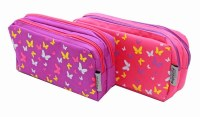 BUTTERFLY PENCIL CASE PINK