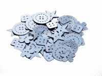 BUTTONS CARD SILVER