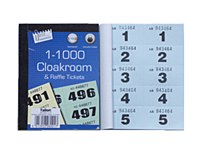 CLOAKROOM TICKETS 1-1000 BLUE