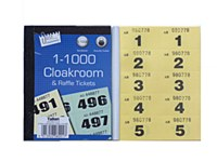 CLOAKROOM TICKETS 1000 YELLOW