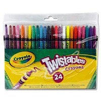 CRAYOLA TWISTABLES 24'S