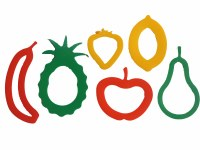 CUTTERS FRUIT SET OF 6