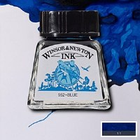 DRAWING INK BLUE 14ML BOTTLE