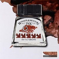 DRAWING INK NUT BROWN 14ML
