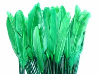 FEATHERS 11CM-14CM GREEN