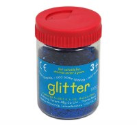 GLITTER TUB BLUE 100GM