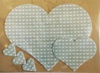 HEART FELT HEARTS WHITE & GREY