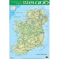 WALL CHART IRELAND MAP