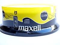 MAXELL CD-RW DISCS 25PK