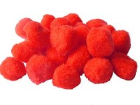 POM POMS 20MM RED PK20
