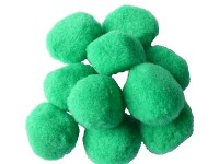 POM POMS 35MM GREEN PK10