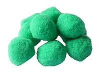 POM POMS 45MM GREEN PK8